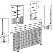 Montage-instructies voor bouwhekken