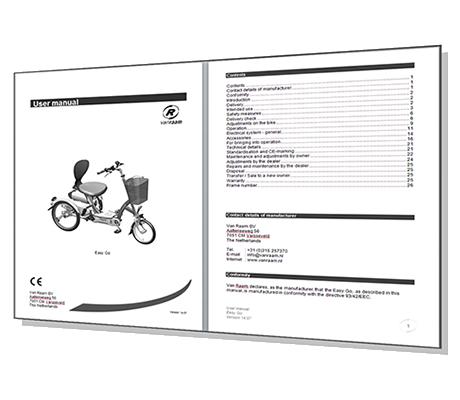 Professionele handleiding  volgens CE-richtlijnen