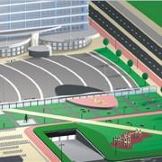 3D visualisaties van projectontwikkeling winkelplein